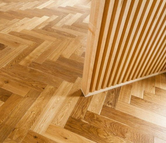 De Marque Oak Parquetry engineered flooring installation by Floors By Nature