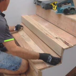 installing timber stairs