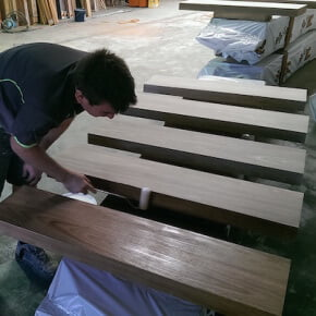 sizing timber for timber stairs installation