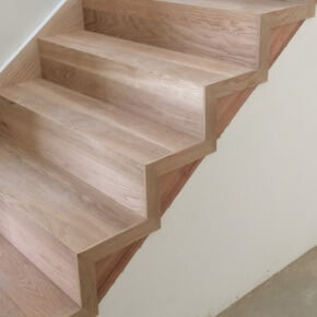 newly installed timber stairs