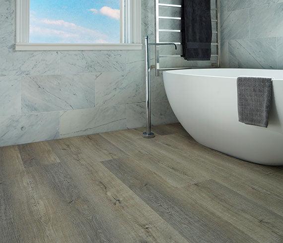 Aspire Hybrid Flooring Bathroom Installation