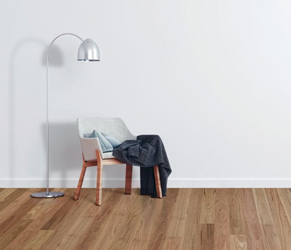 single chair standing on timber floors