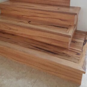 newly installing timber stairs