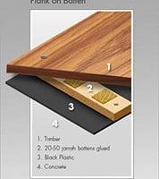 plank on batten flooring installation illustration