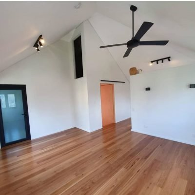 Engineered Blackbutt flooring installed in Perth home by Floors By Nature